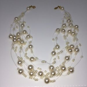 Vintage Yves Roche Pearl Illusion Necklace
